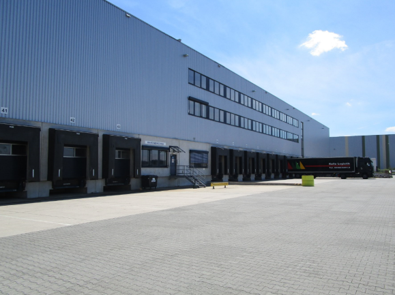 Outside of Rhenus Facility in Bingen