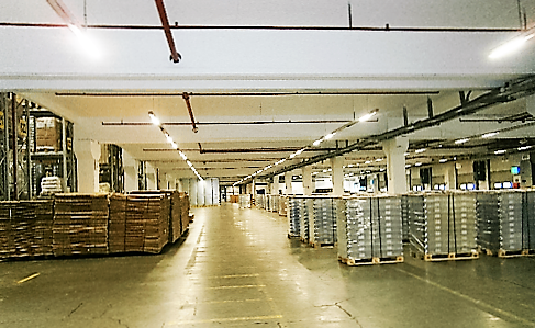 Inside of warehouse facility in Dortmund